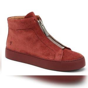 NWOT:Frye Lena Zip High Top Suede Sneaker